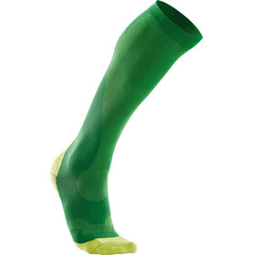 2XU M's Compression Performance Run Sock Fern Green/Lime Green